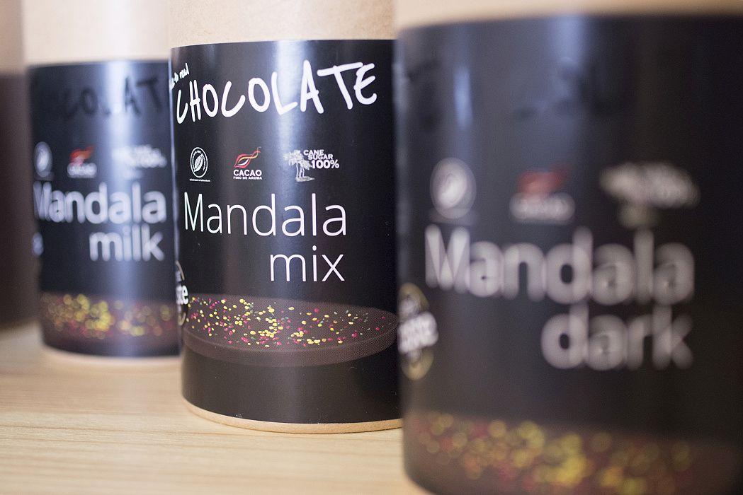 Fotografia z predajne - detail čokolád