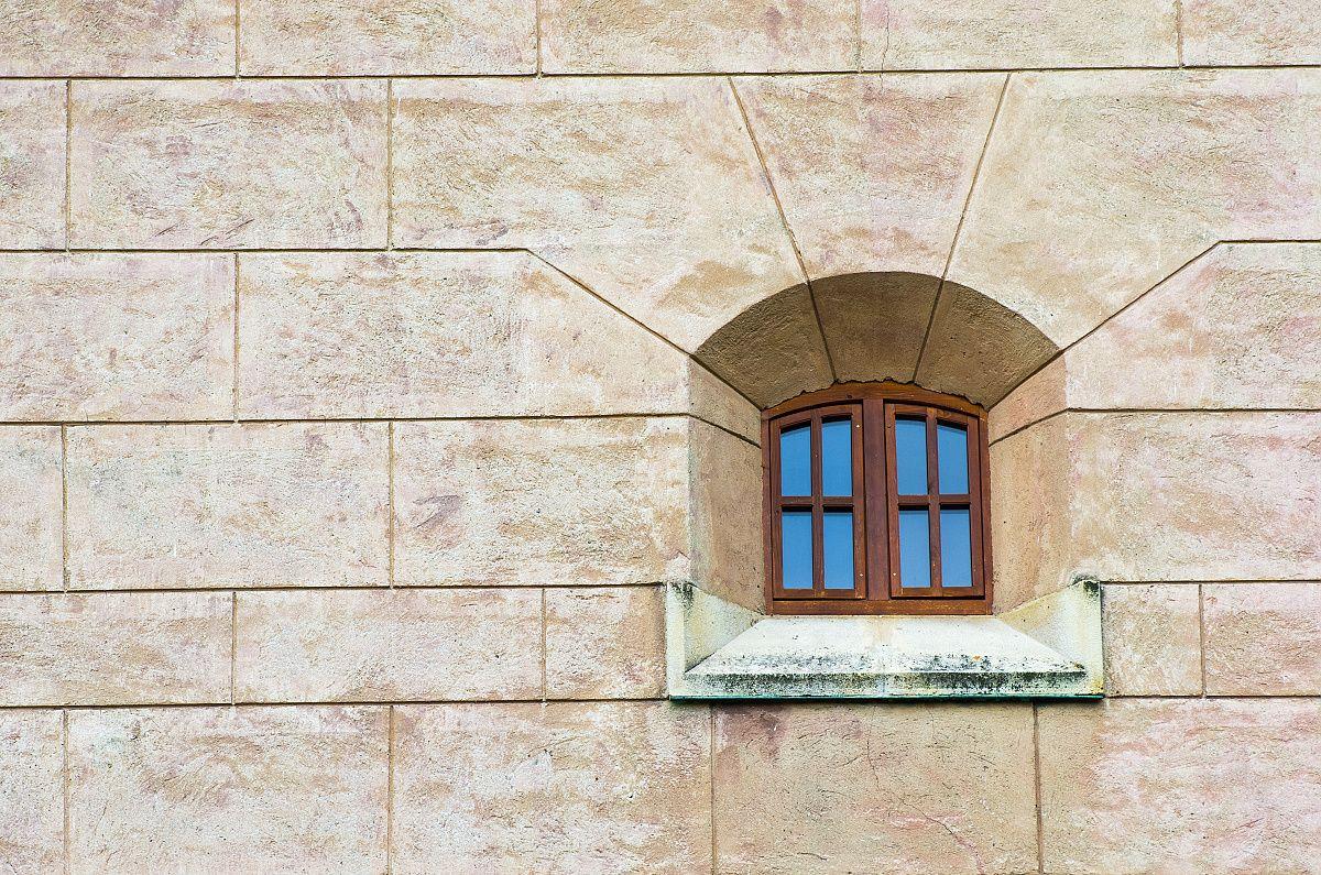 Fotografia detailu steny a okna
