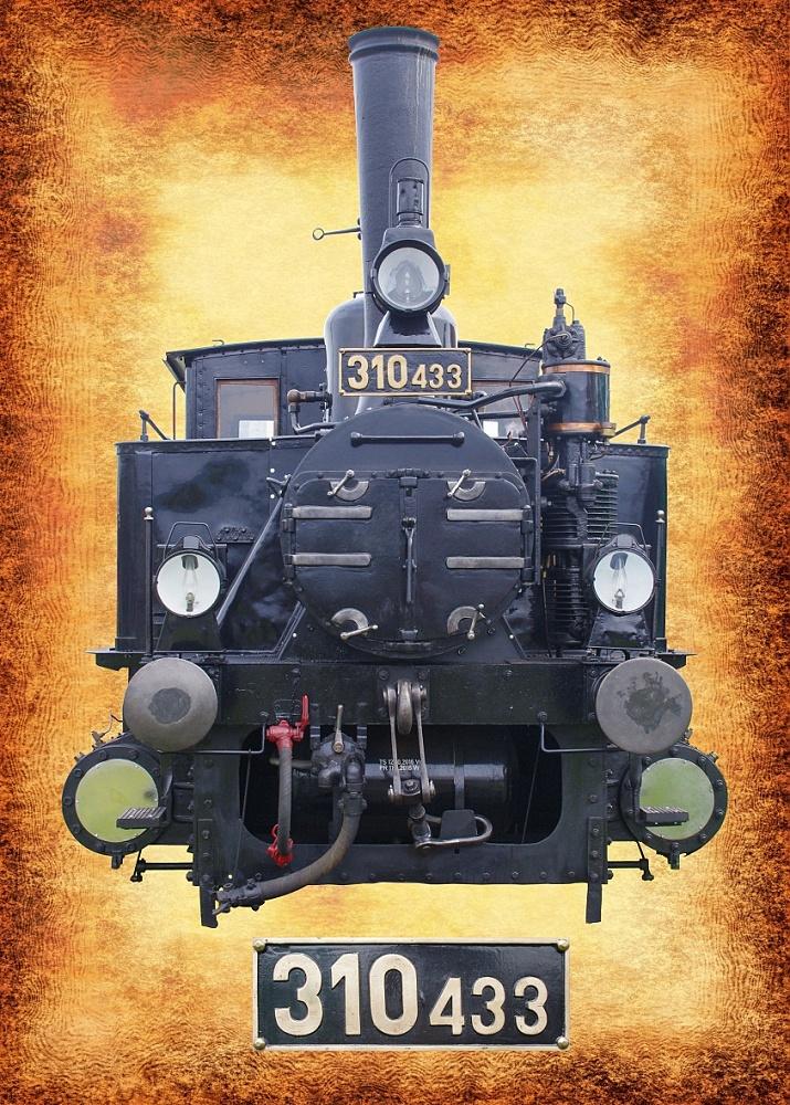 Grafická práca - reklamný materiál - vlak