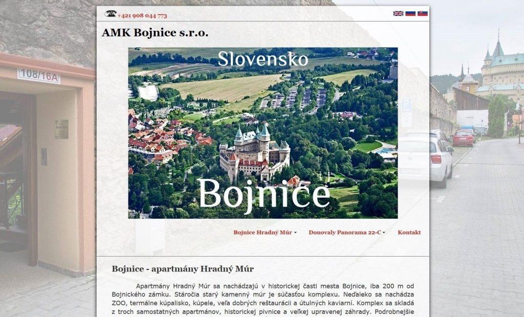 Referencie tvorby web stránok - AMK Bojnice