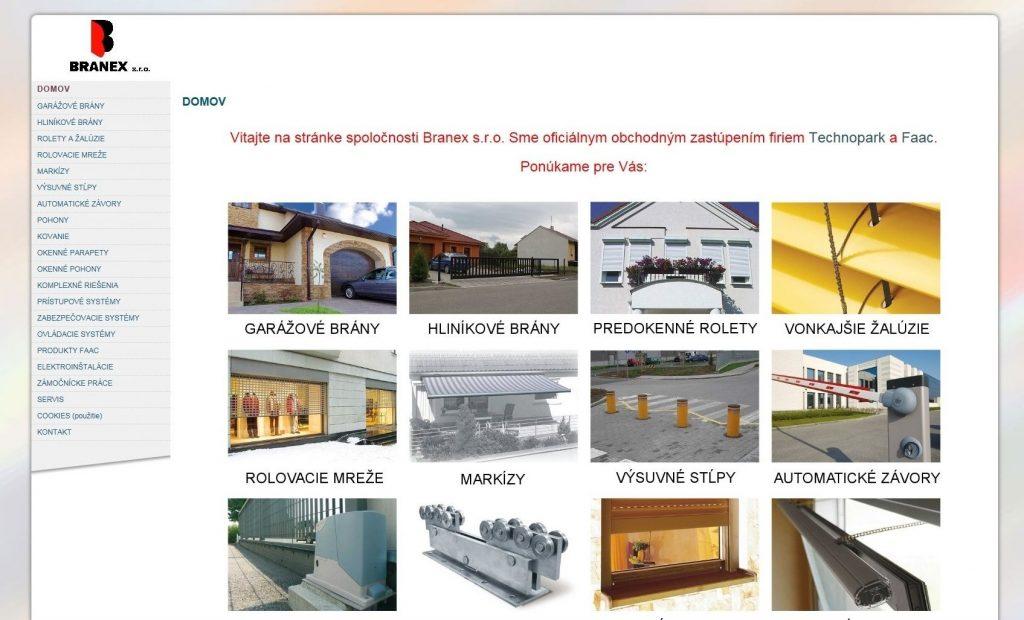 Referencie tvorby web stránok - Branex s.r.o.