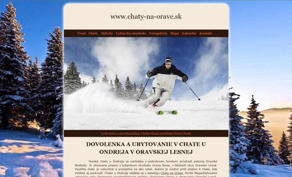Referencie tvorby web stránok - Chaty na Orave