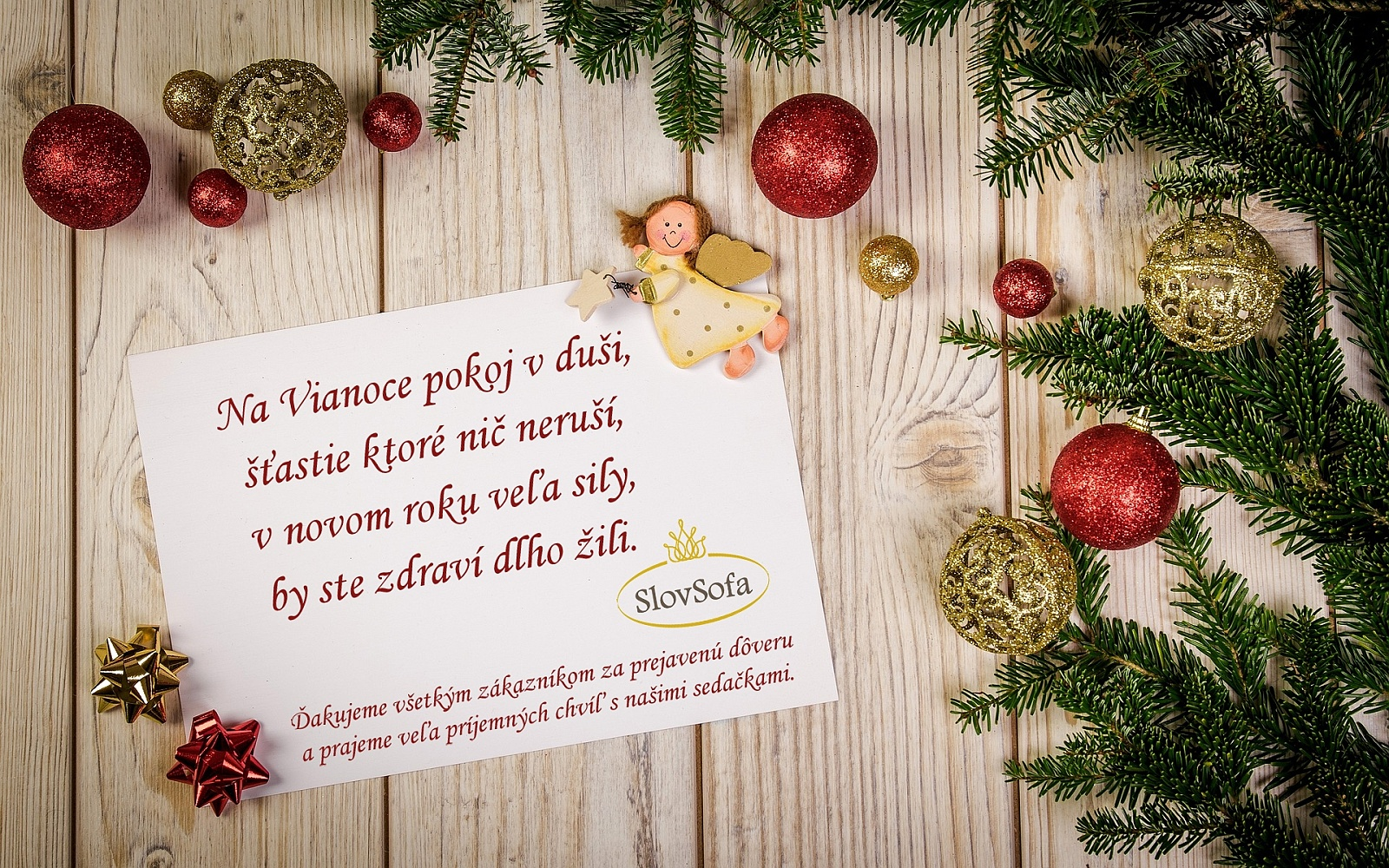 Grafická práca - pozdrav - Vianoce