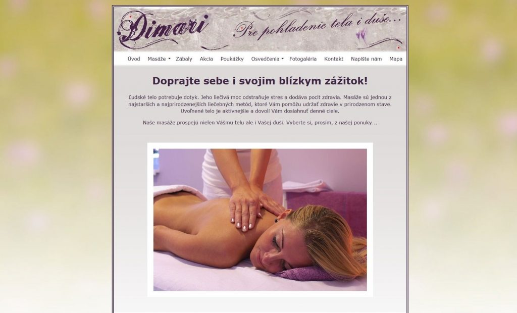 Referencie tvorby web stránok - Dimari Bojnice