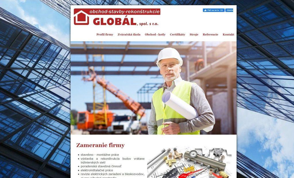Referencie tvorby web stránok - Globál s.r.o.