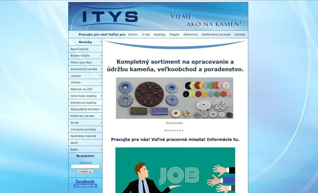 Referencie tvorby web stránok - Itys s.r.o.