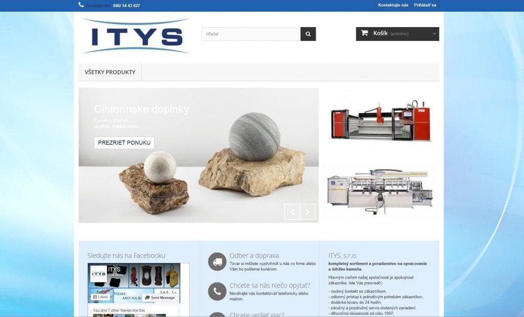 Referencie tvorby web stránok - Itysshop