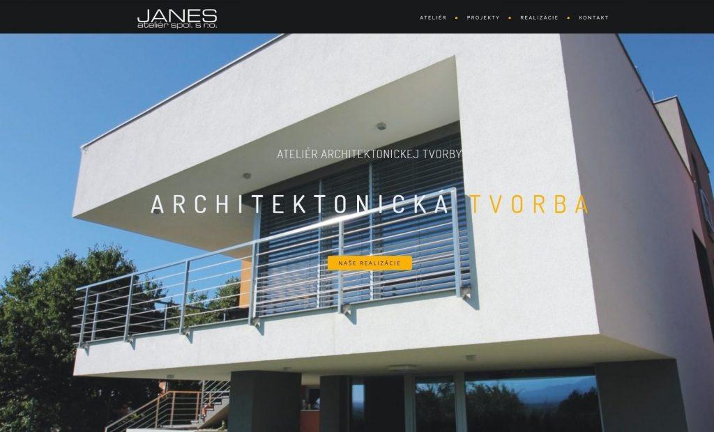 Referencie tvorby web stránok - Janes s.r.o.