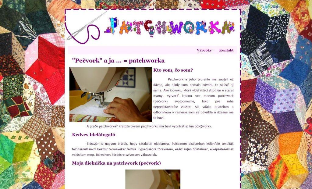 Referencie tvorby web stránok - Patchworka