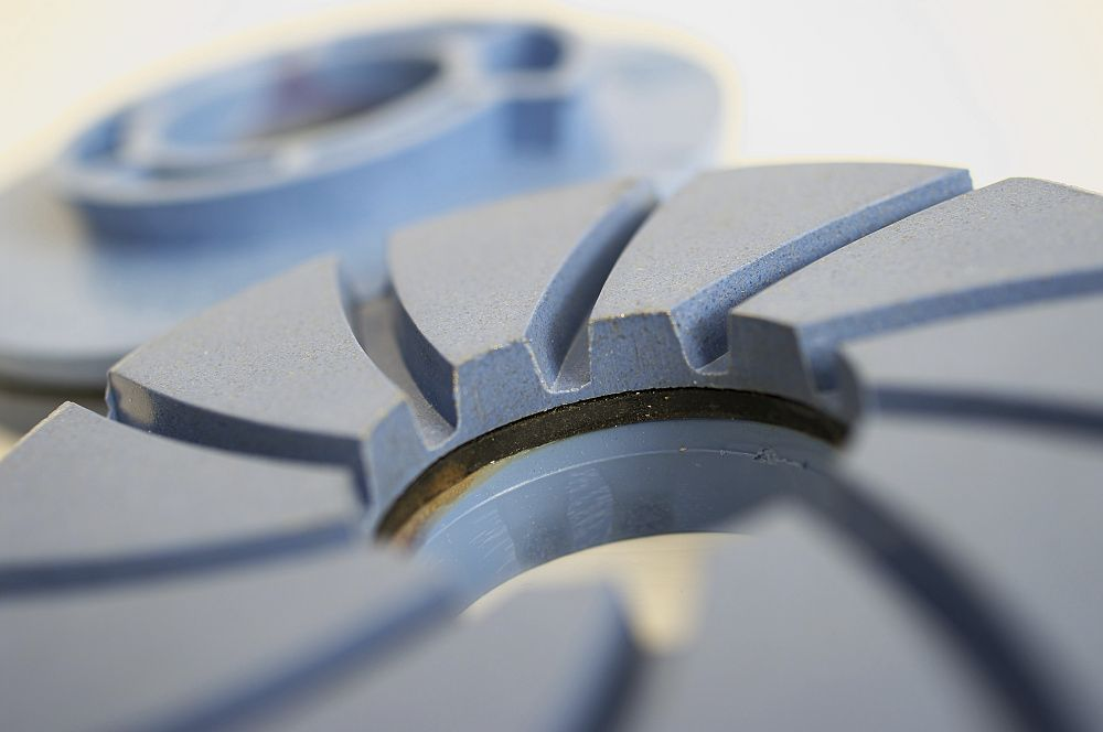 Produktová makro fotografia - brúsny kotúč