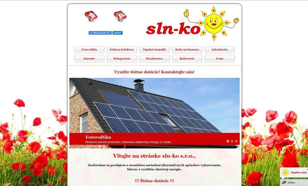 Referencie tvorby web stránok - Sln-ko s.r.o.