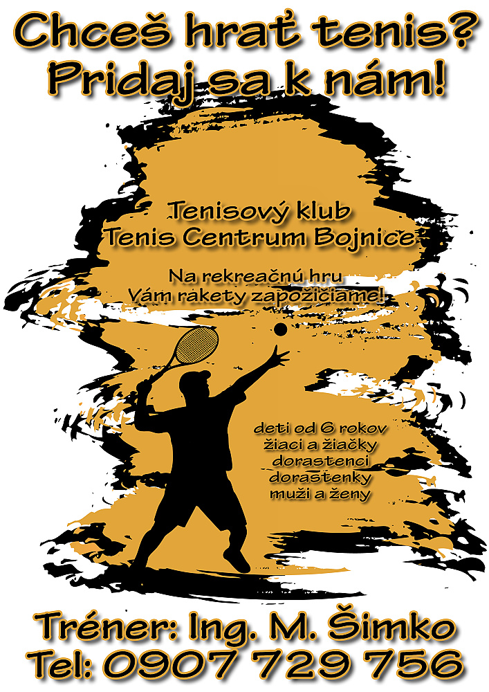 Grafická práca na tlač reklamného materiálu pre tenisový klub