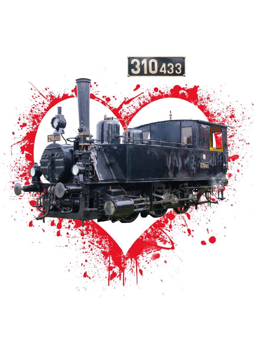 Grafická práca na tlač reklamného materiálu - vlak